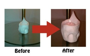 before & after, pinch pot project